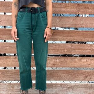 Perfect Green Levi jeans!
